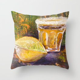 Lick Sip Suck Throw Pillow
