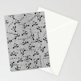 White Vespa Scooter Stationery Cards