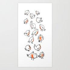 Erithacus rubecula Art Print