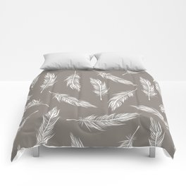 White Feather Pattern Comforters