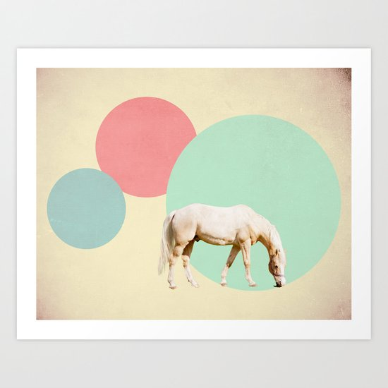 Mr. Horse Art Print