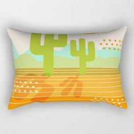 Blazin' - retro vibes southwest socal desert minimal 70s colors throwback 1970's art Rectangular Pillow