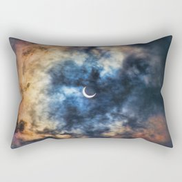 Night Moves - Partial Solar Eclipse Rectangular Pillow