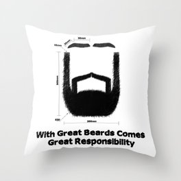 Beard Responsibility Throw Pillow