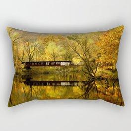 Golden Light Train Trestle Rectangular Pillow