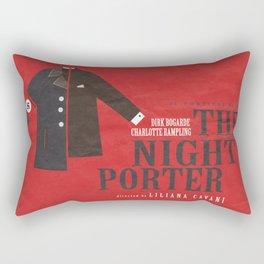 The Night Porter, movie poster, Liliana Cavani, Charlotte Rampling, Dirk Bogarde Rectangular Pillow