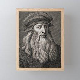 Leonardo da Vinci Framed Mini Art Print