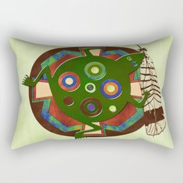 Native American Folk Art Frog Rectangular Pillow