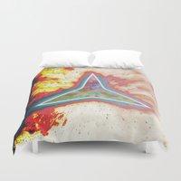 big bang Duvet Covers featuring Big Bang by Helle Gade