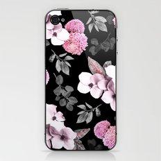 Night bloom - pink blush iPhone & iPod Skin