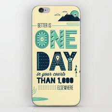 3/52: Psalm 84:10 print iPhone & iPod Skin