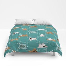 Tummy Rubs Please! (Poodles) Comforters
