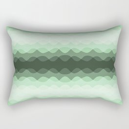 Pastel Mint Green Overlapping Wavy Line Pattern Pairs to Coloro 2020 Color of the Year Neo Mint Rectangular Pillow