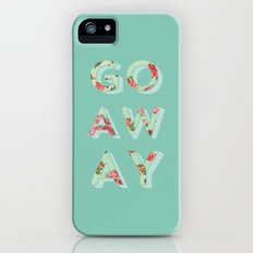 Floral Go Away iPhone (5, 5s) Slim Case