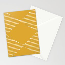 Geo / Yellow Stationery Cards