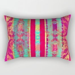 Moroccan Magenta and Turquoise Rectangular Pillow
