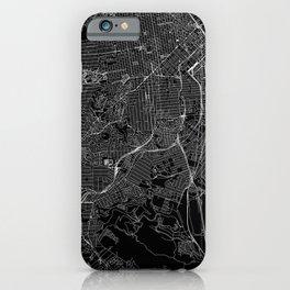 San Francisco Black Map iPhone Case