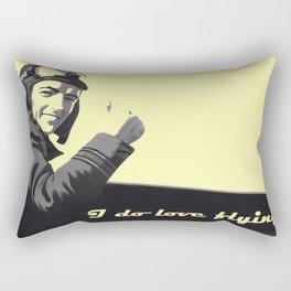I Do Love Flying! Rectangular Pillow