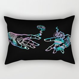 the Creation of Cannabis- holographic Rectangular Pillow