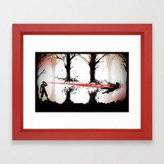 Stay Down Framed Art Print