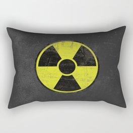 Grunge Radioactive Sign Rectangular Pillow