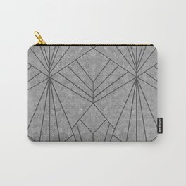 Art Deco in Black & Grey - Large Scale Carry-All Pouch