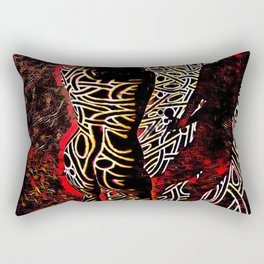 9255-KMA Abstract Fine Art Nude Woman in Red Rectangular Pillow