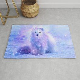 Arctic iceland fox Rug