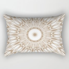 Beige Kaleidoscope Mandala Rectangular Pillow
