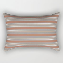 Cavern Clay SW 7701 Horizontal Line Pattern 6 and Accent Colors 4 Rectangular Pillow