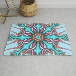 Pastel Pattern Kaleidoscope with optical effects Rug