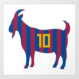 Goat 10 Messi Art Print