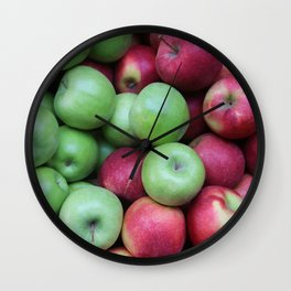 Green and red Apples Wall Clock