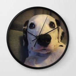Skeptical Dalmatian Wall Clock