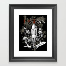 Lost Collage Framed Art Print