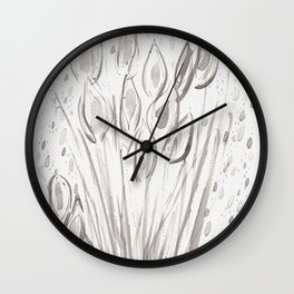 Water reeds Wall Clock