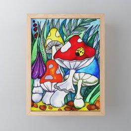 Acid mushrooms Framed Mini Art Print