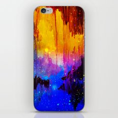 CASTLES IN THE MIST Magical Abstract Acrylic Painting Mixed Media Fantasy Cosmic Colorful Galaxy  iPhone & iPod Skin