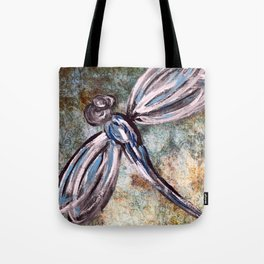 Rustic Dragonfly Art Tote Bag