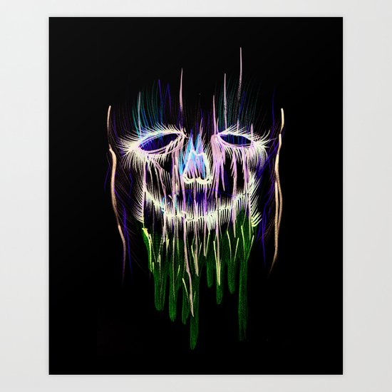 Face Illustration 4 Art Print