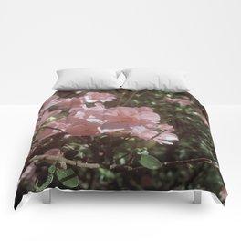 Happy Little Pink Flowers Comforters