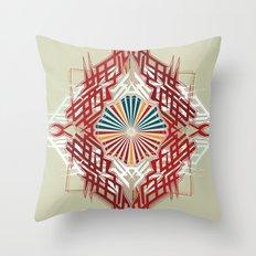 abstrkt placement Throw Pillow