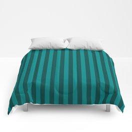 Teal Stripes Pattern Comforters