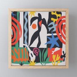 inspired to Matisse (black) Framed Mini Art Print
