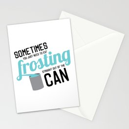 Frosting, Straight Out of the Can Stationery Cards