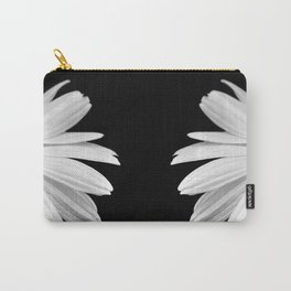Half Daisy in Black and White Carry-All Pouch