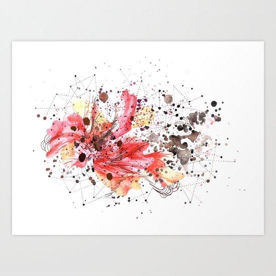 fuego inicial Art Print