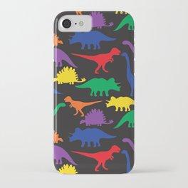 Dinosaurs - Black iPhone Case