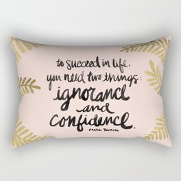 Ignorance & Confidence #2 Rectangular Pillow