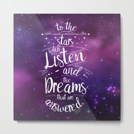 ACOMAF- To the Stars Who Listen And the Dreams that are Answered Metal Print